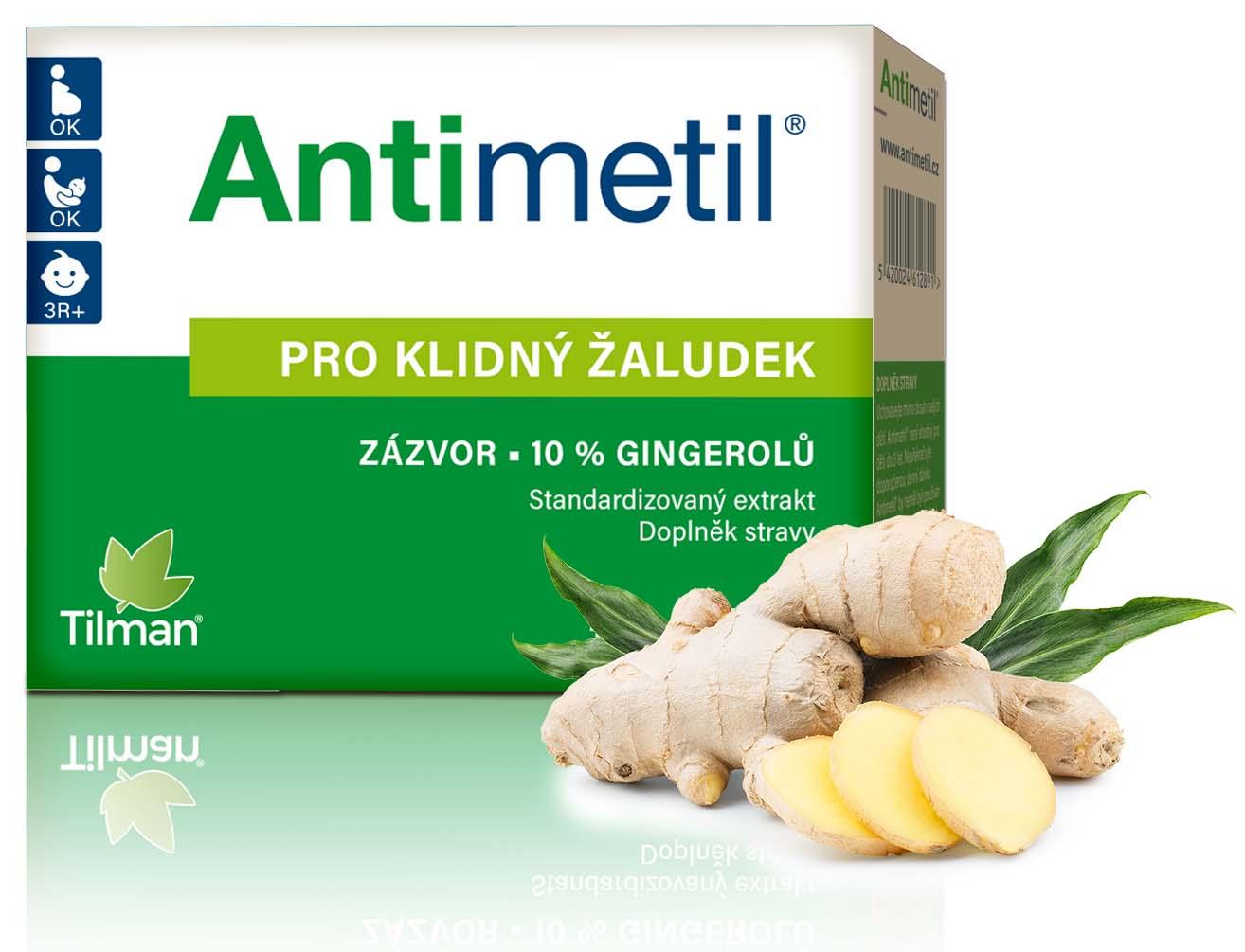 Antimetil na zklidnění žaludku